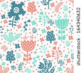 flower seamless pattern | Shutterstock .eps vector #164340632