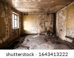 Ruined Apartment Of Deserted...