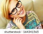 closeup portrait of a young... | Shutterstock . vector #164341565