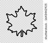 outline maple leaf icon flat... | Shutterstock .eps vector #1643442925