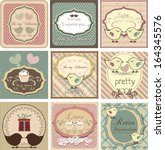 beautiful label set with love... | Shutterstock .eps vector #164345576