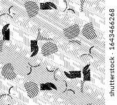 grunge halftone black and white ...   Shutterstock . vector #1643466268