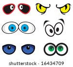 vector set of eyes | Shutterstock .eps vector #16434709