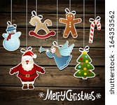 vector collection of christmas... | Shutterstock .eps vector #164353562