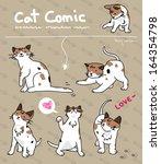 cat comic    Shutterstock .eps vector #164354798