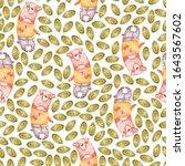 watercolor cute nursery naive... | Shutterstock . vector #1643567602