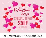 valentines day sale poster with ... | Shutterstock .eps vector #1643585095