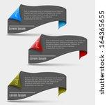 one two three progress steps   Shutterstock .eps vector #164365655