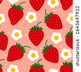 Strawberry Pattern. Seamless...