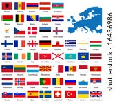 official list of all european... | Shutterstock . vector #16436986