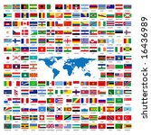 flags of the world sorted... | Shutterstock . vector #16436989