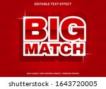 big match text effect template... | Shutterstock .eps vector #1643720005