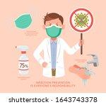 doctor doing health promotion... | Shutterstock .eps vector #1643743378