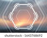 white glowing hi tech hexagons...