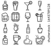 collection alcohol elements... | Shutterstock .eps vector #1643789128
