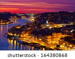 hill with old town of porto at... | Shutterstock . vector #164380868