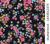 seamless delicate pattern of... | Shutterstock .eps vector #1643812375