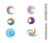 set spiral icon vector...   Shutterstock .eps vector #1643821042