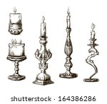 antique,art,background,black,burning,candelabra,candle,candlestick,decoration,decorative,design,drawing,element,engraved,engraving