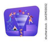 funnel generation sales vector...   Shutterstock .eps vector #1643903032