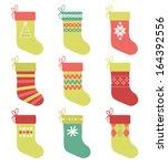 Set Of 9 Christmas Stockings