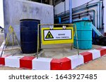 Toxic Chemical Barrels In...