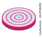 slice onion icon. isometric of...