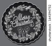 vintage christmas illustration. ... | Shutterstock .eps vector #164394752