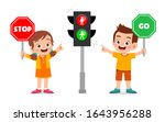 happy cute kid boy and girl... | Shutterstock .eps vector #1643956288