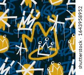 graffiti seamless pattern with... | Shutterstock .eps vector #1643958952