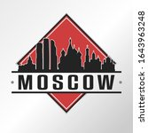 moscow russia skyline logo city.... | Shutterstock .eps vector #1643963248