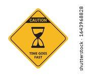 time goes fast flat design...   Shutterstock .eps vector #1643968828