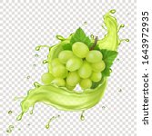 white grape branch in grape... | Shutterstock .eps vector #1643972935