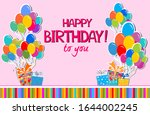 birthday card. happy birthday... | Shutterstock .eps vector #1644002245
