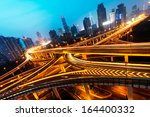 beautiful city interchange... | Shutterstock . vector #164400332