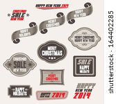 set of christmas sale banners ... | Shutterstock .eps vector #164402285