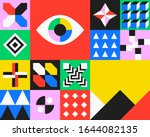 abstract geometric composition. ... | Shutterstock .eps vector #1644082135