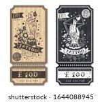 two vertical flyers  gift... | Shutterstock .eps vector #1644088945