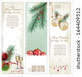 merry christmas banner vertical ... | Shutterstock .eps vector #164409512