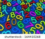 digital background.  from zero... | Shutterstock . vector #164410268