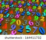 digital background.  from zero... | Shutterstock . vector #164411732