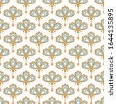 floral pendant shape seamless... | Shutterstock .eps vector #1644135895