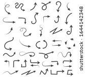 hand drawn arrows. filigree...   Shutterstock . vector #1644142348