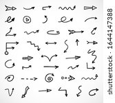 vector set of hand drawn arrows | Shutterstock .eps vector #1644147388