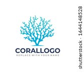 coral logo with a blue coral... | Shutterstock .eps vector #1644148528