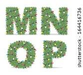 christmas alphabet  | Shutterstock .eps vector #164416736