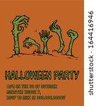 halloween party poster template ... | Shutterstock .eps vector #164416946