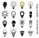 set of light bulbs icons.... | Shutterstock .eps vector #164417852