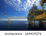 oil and gas platform in the... | Shutterstock . vector #164419376