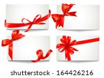 set of beautiful gift cards... | Shutterstock . vector #164426216